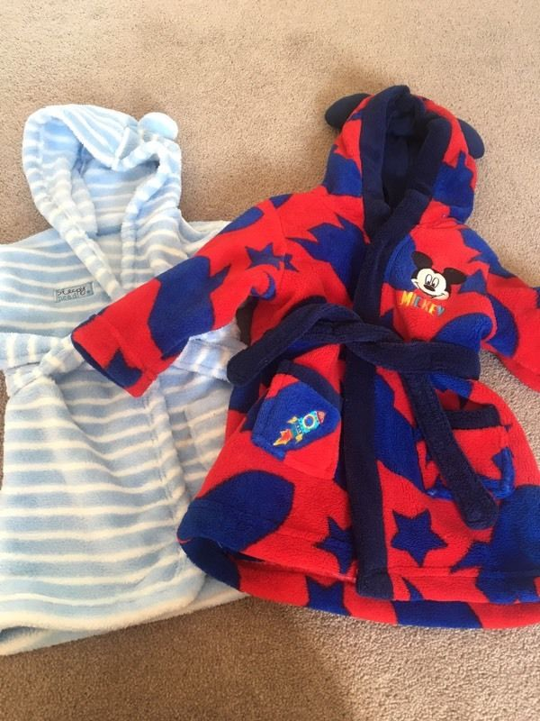 Baby boy dressing gowns