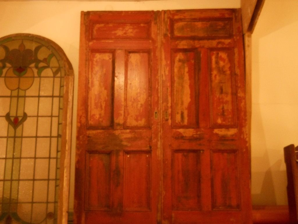 large reclaimed panel doors