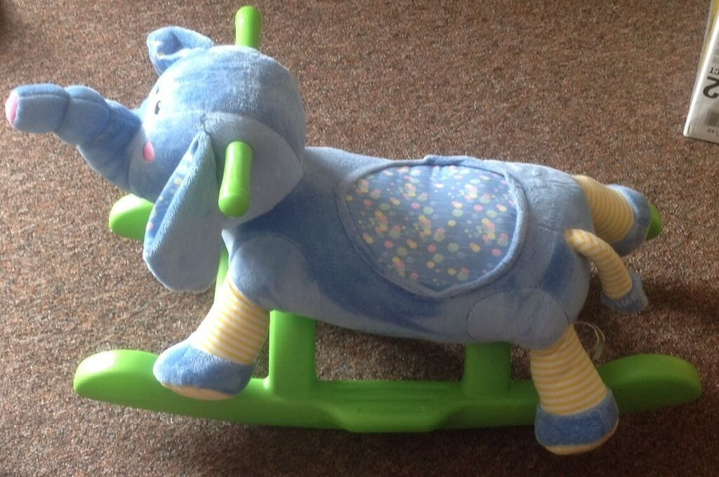 Elephant rocker, makes sounds and music excellent condition