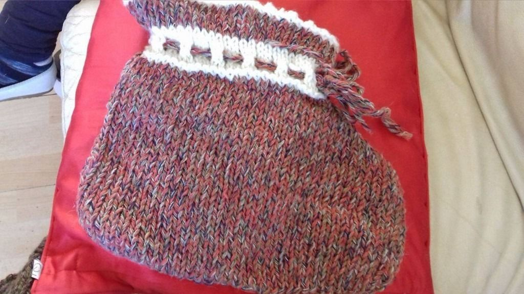 over sized baby bootee christmas stocking