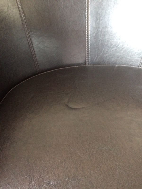 Faux leather bucket chair