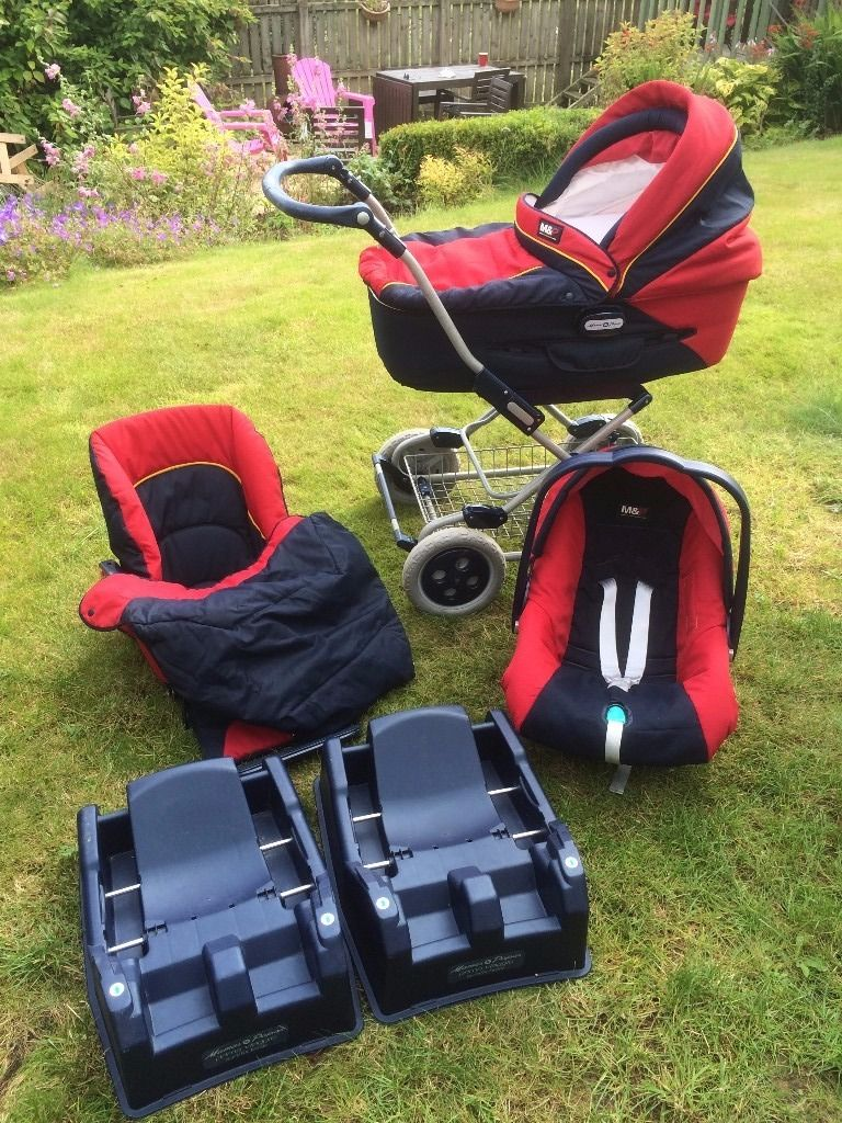 Mamas and Papas 3 in one Primo Viaggio - car seat, carry cot and buggy with 2 car bases