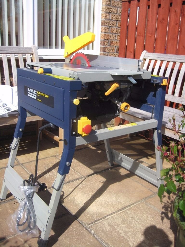 flip over table circular saw with folding stand(rip, crosscut and mitre timbers)