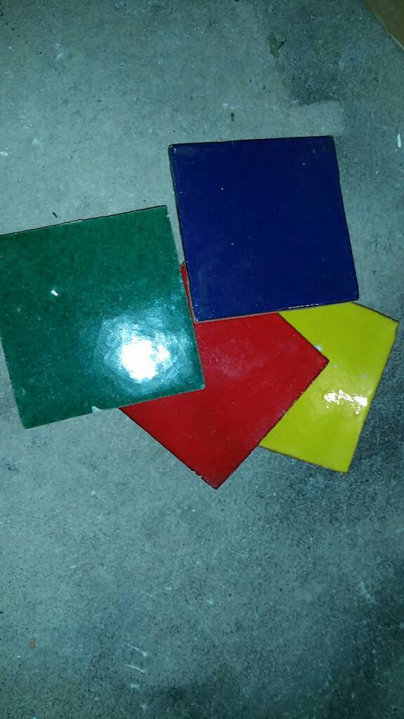 Multiple colored tiles
