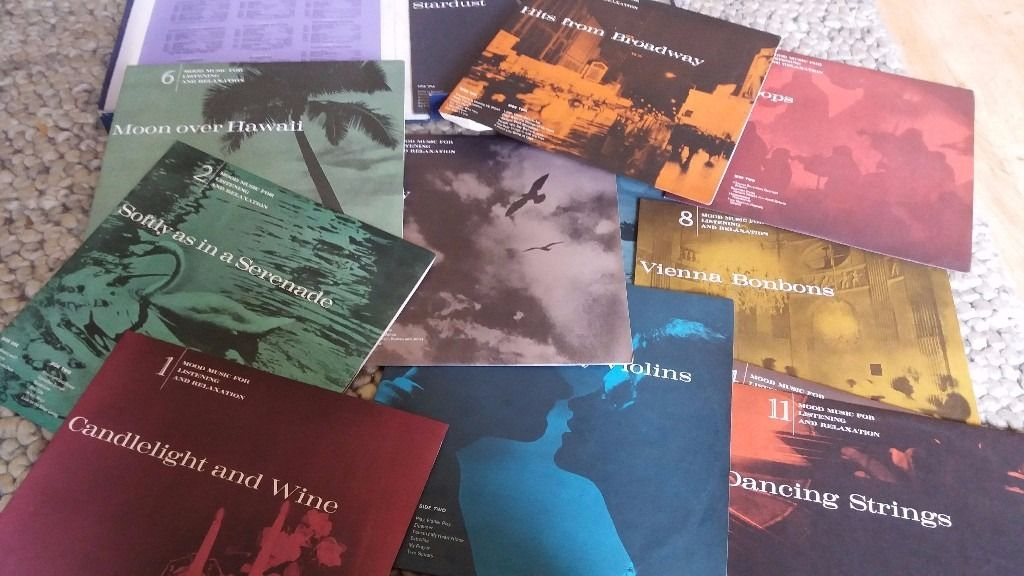 Mood Music for listening and relaxation 12 Vinyls released by Readers Digest.