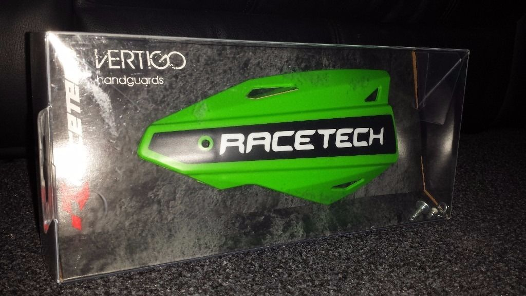 Race tech vertigo handguards, motocross/enduro bikes