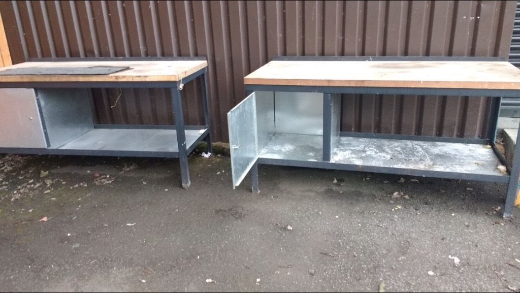 2 or 1 Heavy Duty work benches for sale