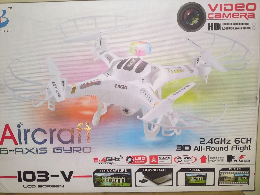 AIRCRAFT 6 AXIS HD 3D CAM LARGE QUADCOPTER