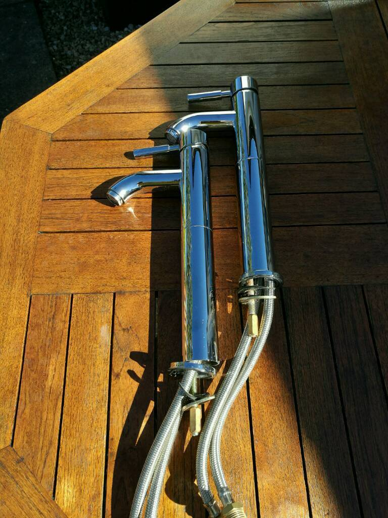 Taps, uprisers, chrome