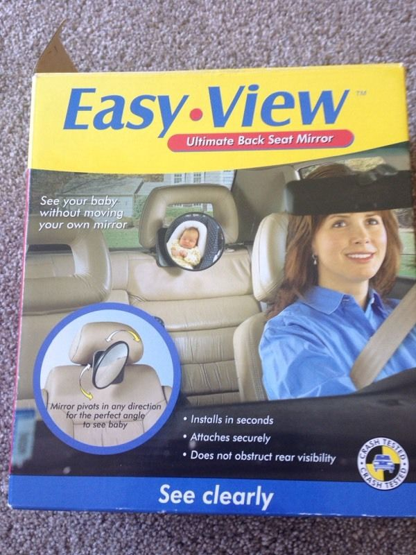 Easy view baby back seat mirror