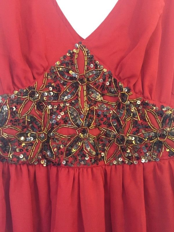 Red size 8 maxi dress