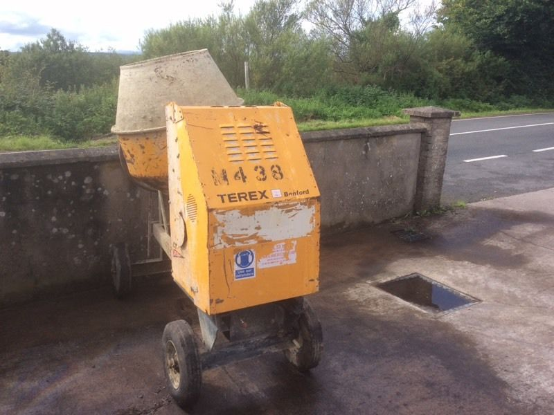 Terex / Benford electric start cement mixer
