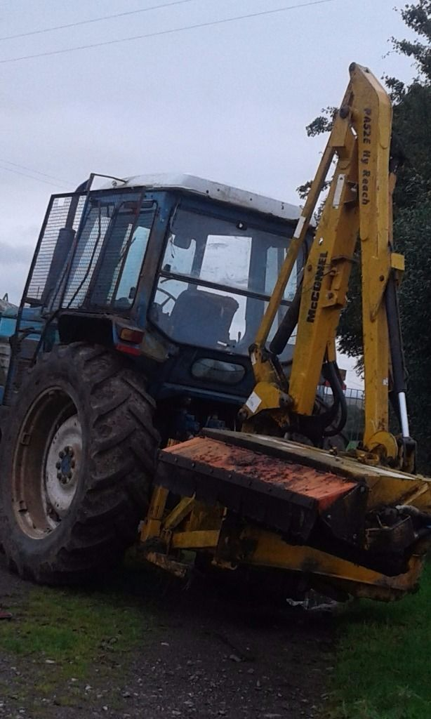 Ford 6710 tractor and mcconnell pa52e hedgecutter for sale. Am willing to split sale.
