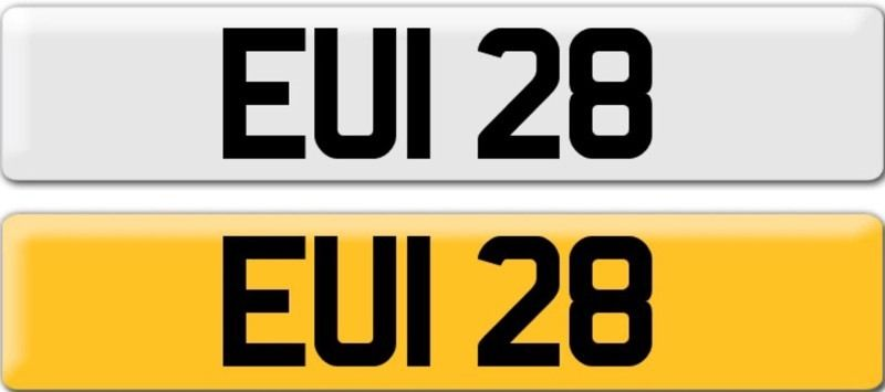 *EUI 28* Dateless Personalised Cherished Number Plate Audi BMW M3 Ford VW Caddy Mercedes Vauxhall