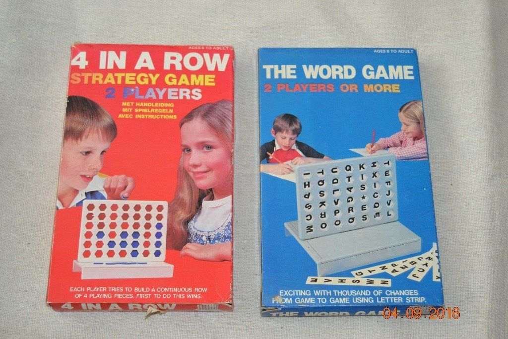 2 Games - 4 in a Row & The Word Game