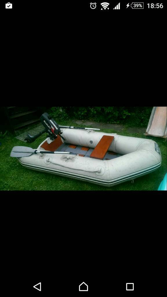 Wetline 230 Inflateable dinghy boat and suzuki outboard