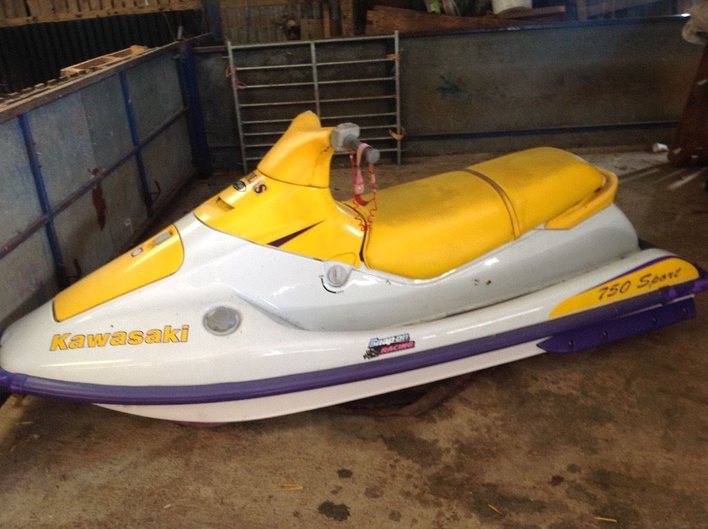 KAWASAKI 750 SPORT JET SKI with TRAILER