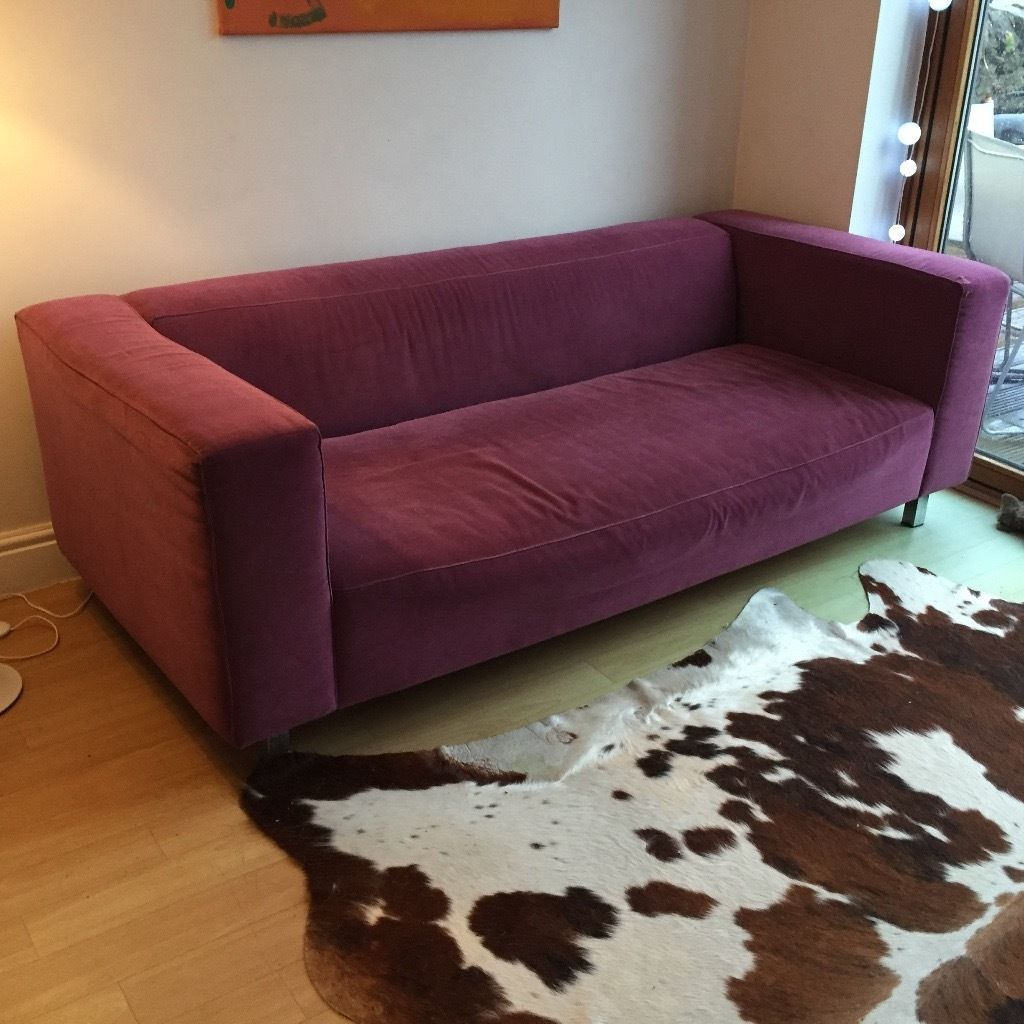 Sofa from Habitat (purple 3 seater )