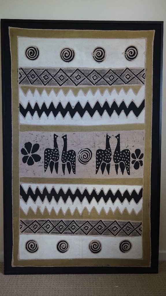 For sale: large framed African print