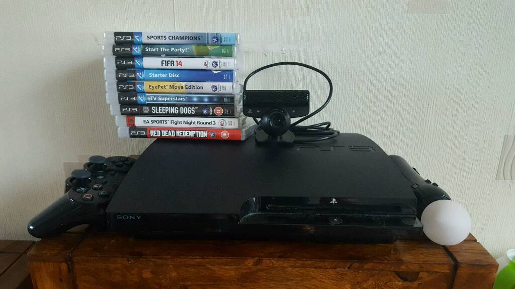 500gb Ps3 with playstation move