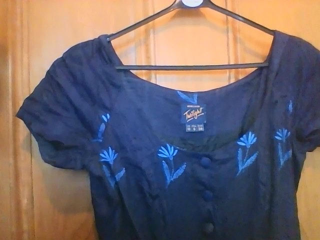 """AS NEW Monsoon """"Twilight"""" 100% raw silk embroidered dress size 10"""