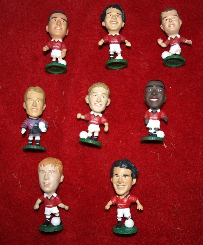 Manchester Utd Corinthian figures from 1995 8 off, see description players