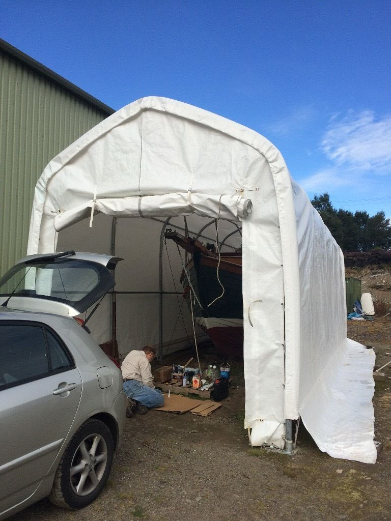 Tent Dancover for Boat, Car or Storage Shelter. 3.5m x 10m x 3.8m. Half price!