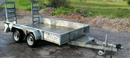 GALVANISED Chieftain Twin Axle 3.5 ton Gross Heavy Duty Plant Trailer