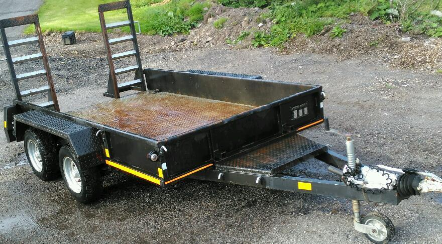 Chieftain Twin Axle 3.5 ton Gross Heavy Duty Plant Trailer
