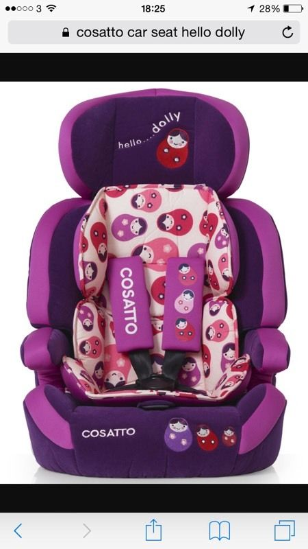 Cosatto car seat group 123