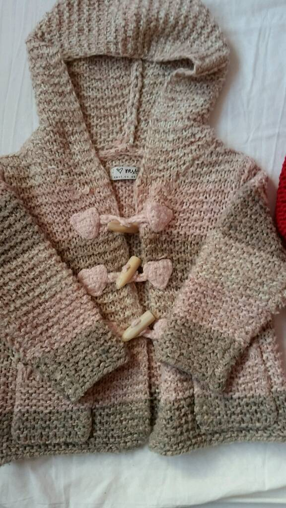 ?? 2 'next' cozy girls cardigans ..12-18 months