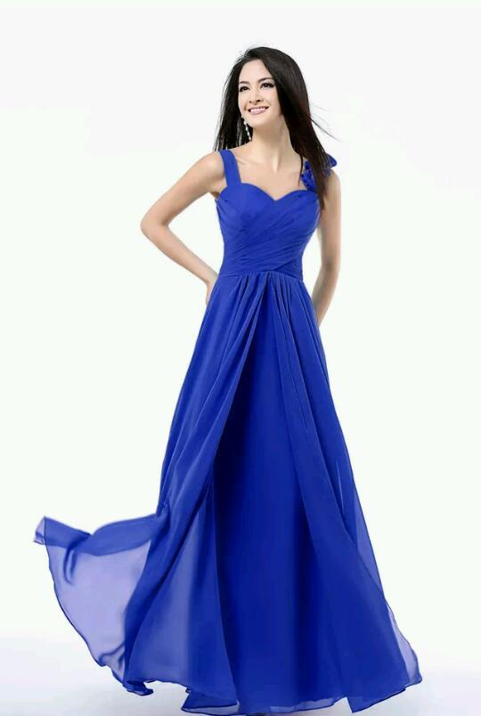 Long chiffon formal evening dress