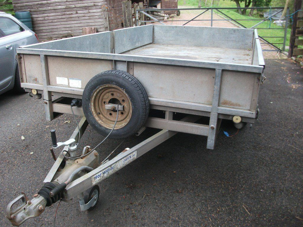Ifor Williams lm126 twin axle flat bed with drop sides 3500kg