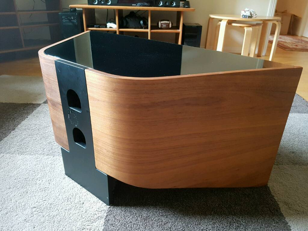 Stylish wood and glass TV stand