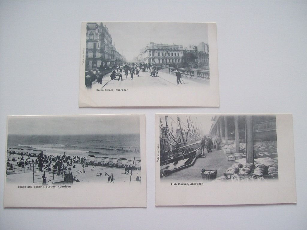 Collection of Early Undivided Back Postcards, N.E. Scotland. Aberdeen, etc. c.1900. All Cards Shown.