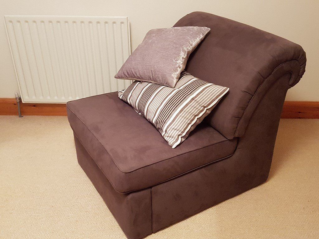Sofa Bed (single) Chair - John Lewis - Superb Condition & Quality - Brown Fabric. Easy To Use.