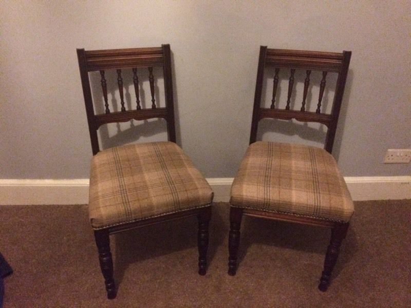 Pair of antique chairs.