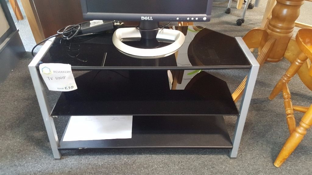 Three Tier TV Glass Stand- CHARITY