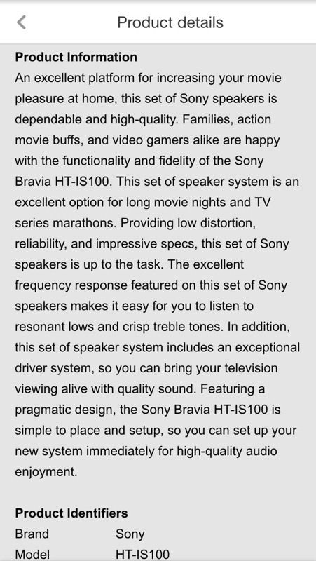 Sony HT IS100 Surround sound home theatre system