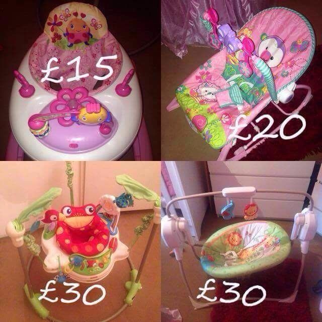 Selling baby items . moses basket, swing, bouncer , jumperoo and walker. All imaculate condition