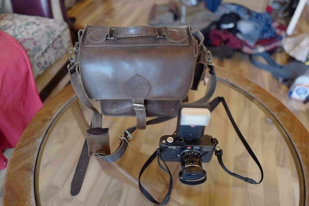 Grafea Leather Heavy duty vintage style camera bag