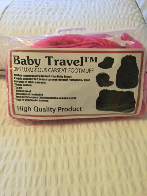 ***BRAND NEW ***BRIGHT PINK FOOT MUFF FOR CAR SEAT