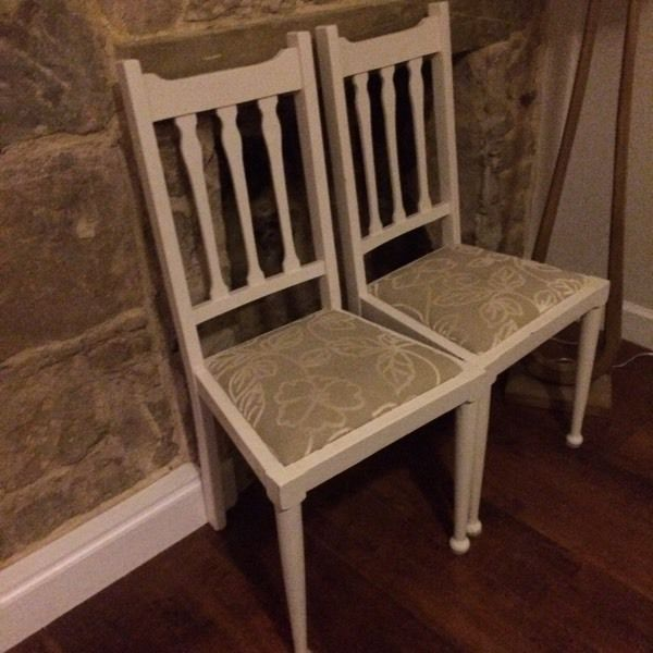 6 x dining chairs, up cycled shabby chic