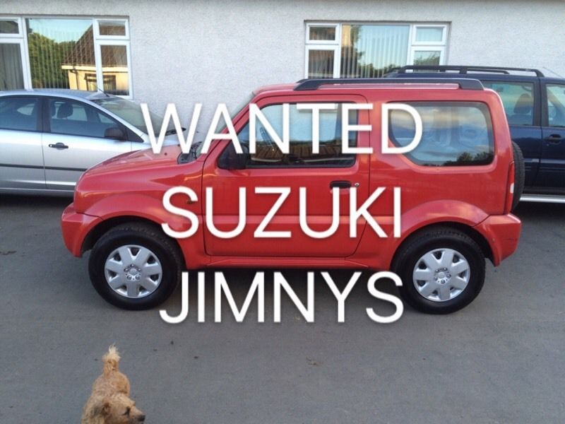 WANTED SUZUKI JIMNYs FOR CASH