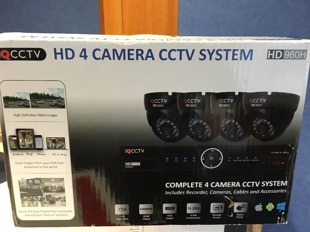 CCTV 4 camera pack with 2 latest lcd screens