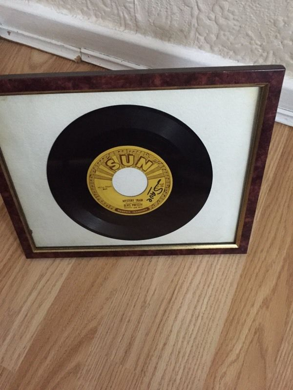 Elvis Presley sun 45 original 1955 mystery train framed rare