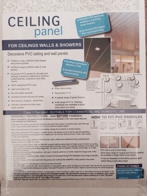 PVC ceiling walls and shower panels