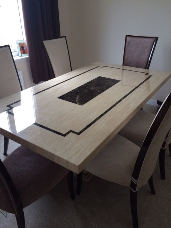 Pure marble dining room table