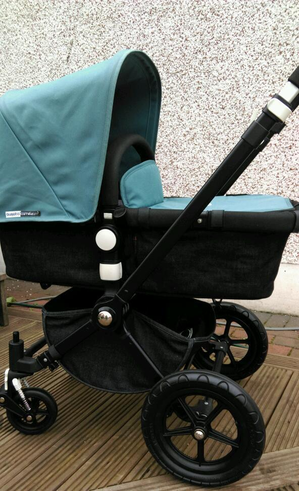 Brand new in original box bugaboo cameleon 3 petrol fabrics raincover etc pics for attention only