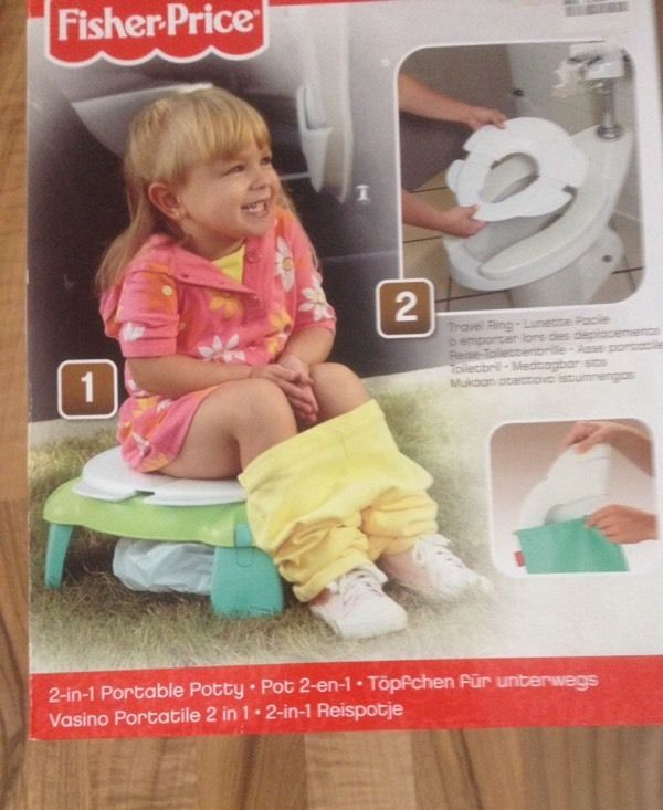 Fisher Price 2 in 1 portable potty / toilet seat